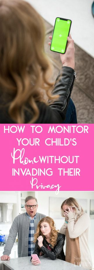 How to Monitor Your Child's Phone Without Invading Their Privacy #monitorweb #websafety #childsphone #teenphone #teenparenting
