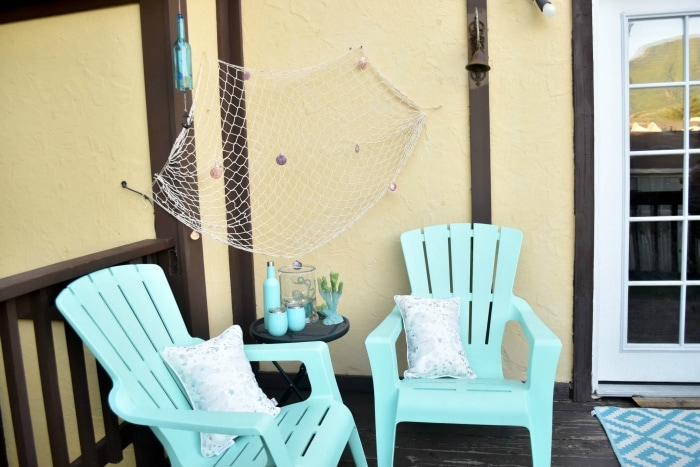 Beach Patio Decor #beach #patio #patiodecor #diy #outdoordiy #deckdecor