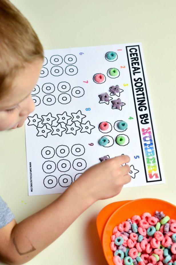Free Printable Cereal Sorting Mats #printable #freeprintable #cereal #sortingmats #preschoolprintables