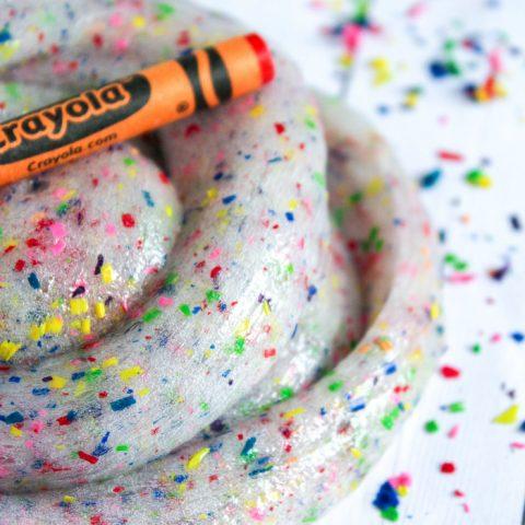 Crayon Slime on Table
