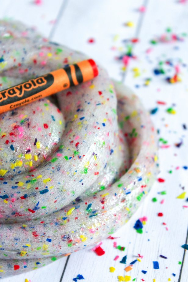 Crayon Slime on Table