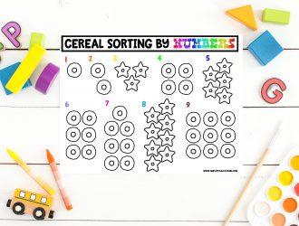 Free Printable Cereal Sorting Mats