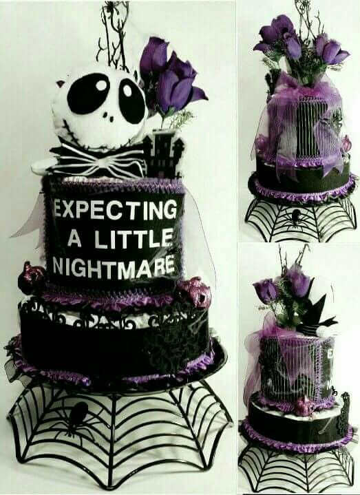jack skellington diaper cake