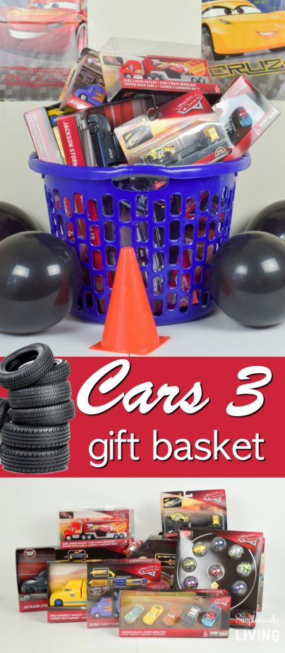 cars toys in basket