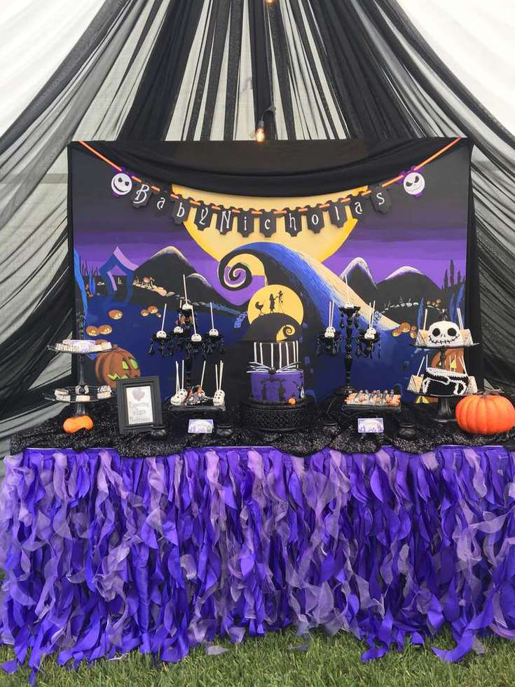 Nightmare Before Christmas Birthday Party Ideas.Nightmare Before Christmas Baby Shower Ideas Perfect For