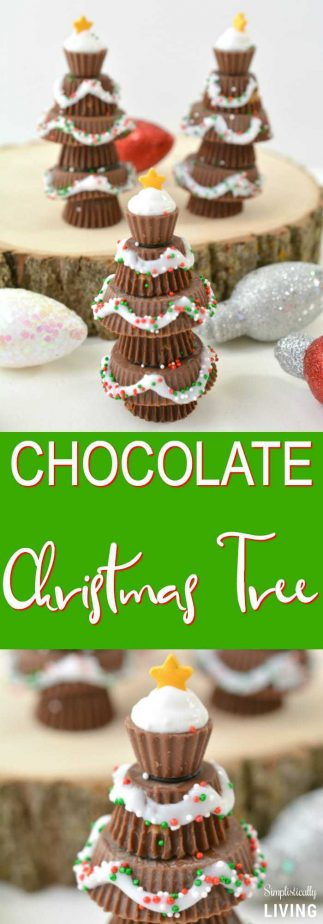 Chocolate Christmas Tree - rock around the chocolate Christmas tree, the chocolate Christmas tree that is... #christmas #christmastree #chocolatechristmastree #christmastreats #christmastreats | simplisticallyliving.com