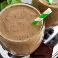 Dark Chocolate Green Superfood Smoothie
