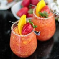 Mango & Strawberry Whiskey Margarita
