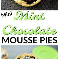 Mini Mint Chocolate Mousse Pies