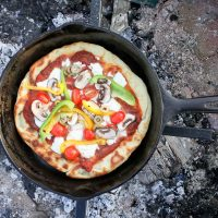 Campfire Pizza with Veggies