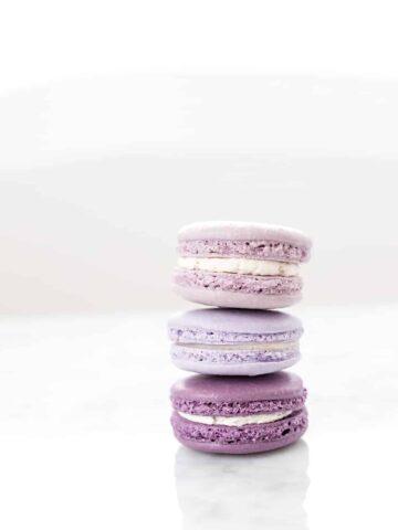 Lavender Macarons (Nut-Free Recipe)
