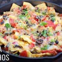 Campfire Pizza Nachos Recipes | Camping Recipes