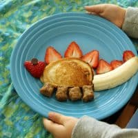 Silly Kid-Friendly Stegosaurus Breakfast