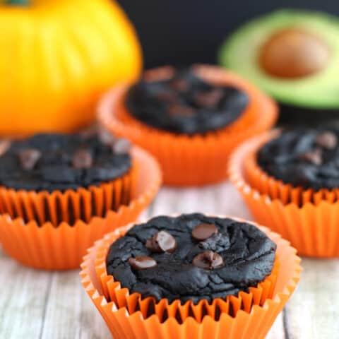 Healthy Chocolate Pumpkin Muffins