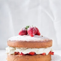 Classic Victoria Sponge Cake with Buttercream Frosting