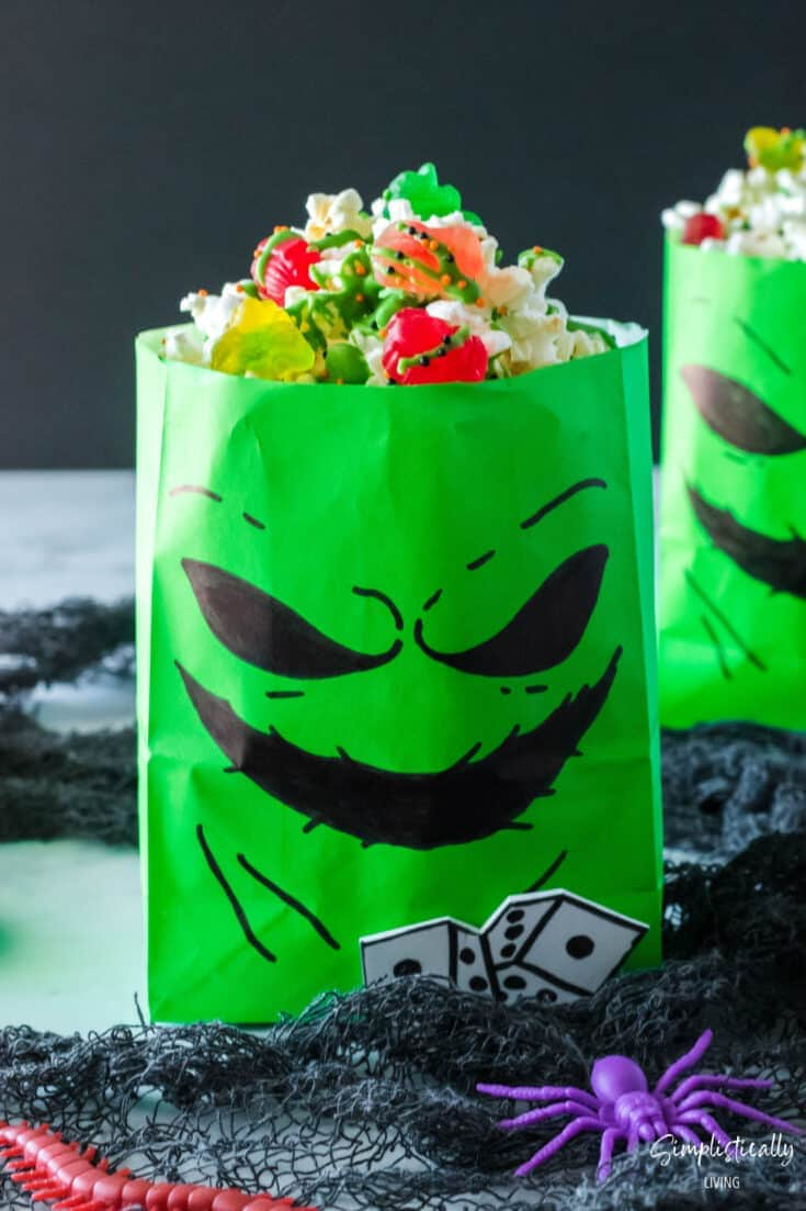Oogie Boogie Treat Bags (With Bug Popcorn Recipe)