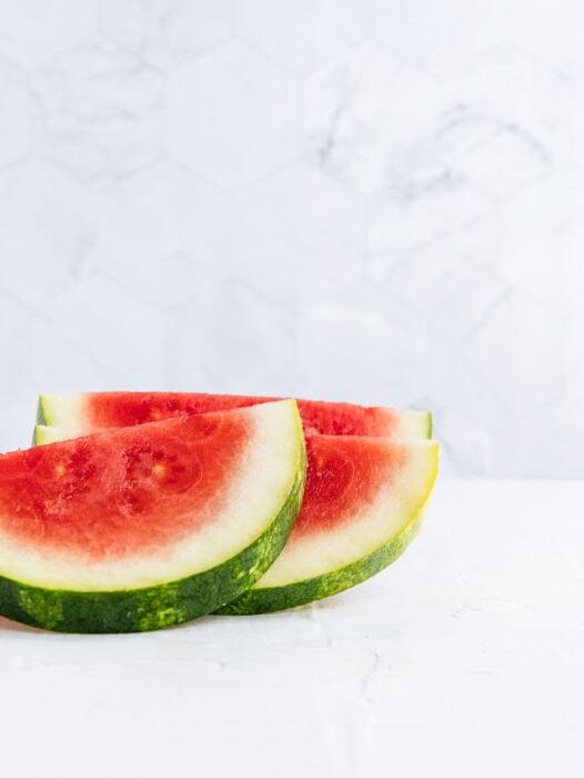 fresh watermelon on a table