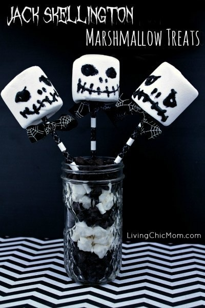 Jack Skellington Marshmallow Treats