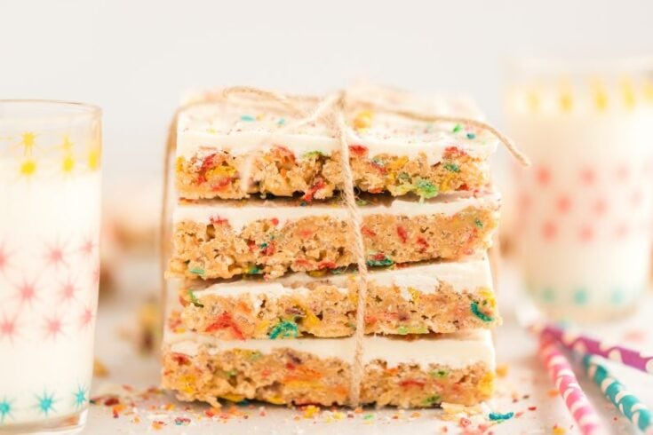 Fruity Pebbles Rice Krispies Treats