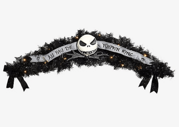 THE NIGHTMARE BEFORE CHRISTMAS PUMPKIN KING GARLAND