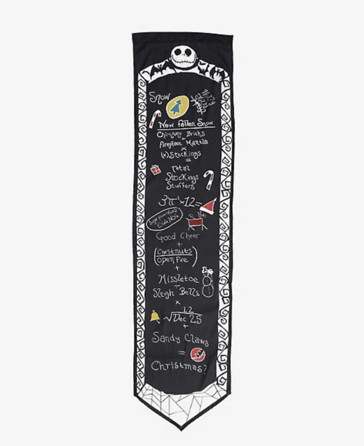 THE NIGHTMARE BEFORE CHRISTMAS SCIENTIFIC FORMULA WALL SCROLL