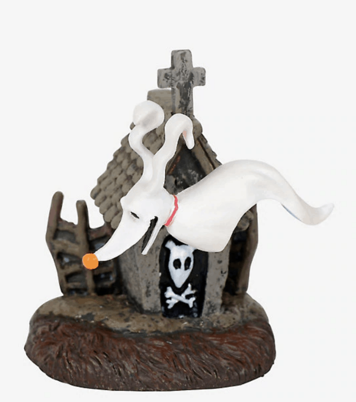THE NIGHTMARE BEFORE CHRISTMAS ZERO & DOGHOUSE FIGURINE