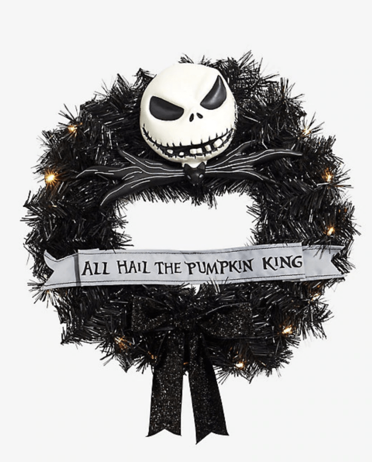 THE NIGHTMARE BEFORE CHRISTMAS PUMPKIN KING WREATH
