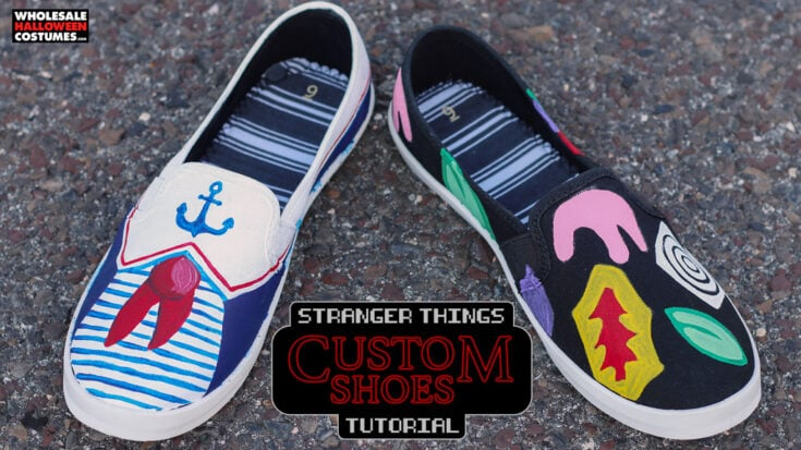 DIY Stranger Things Inspired Shoes