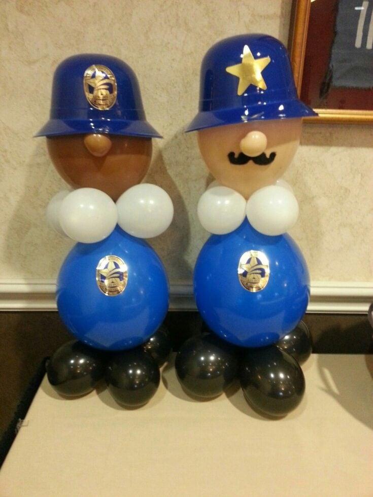 Police Man Balloons