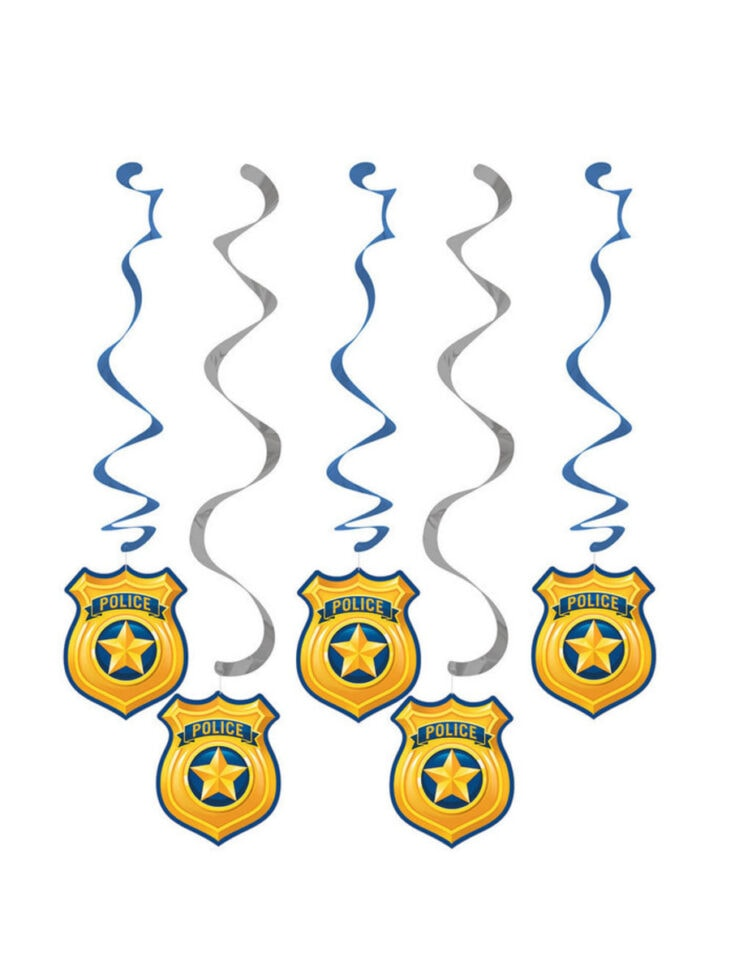 Police Party Foil Dizzy Dangler (5)