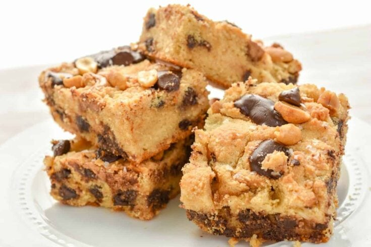 Keto Peanut Butter Chocolate Chip Bars
