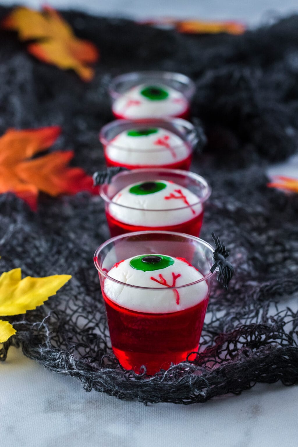 row of eyeball jello shots