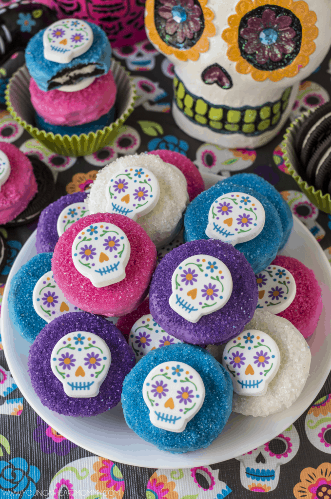 Sugar Skull Chocolate Covered Oreo Cookies