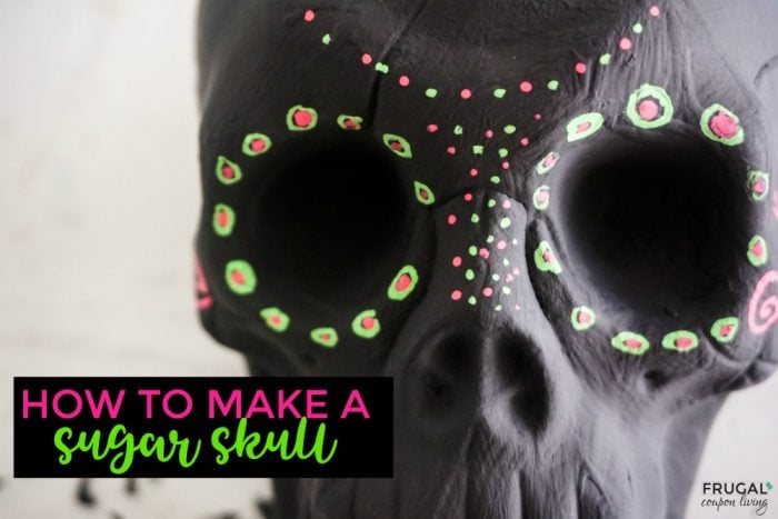 Halloween Dollar Tree Craft | How to Make a Sugar Skull