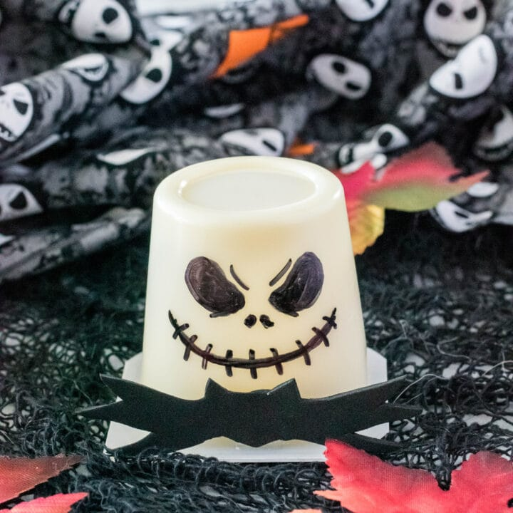 Jack Skellington Pudding Cups