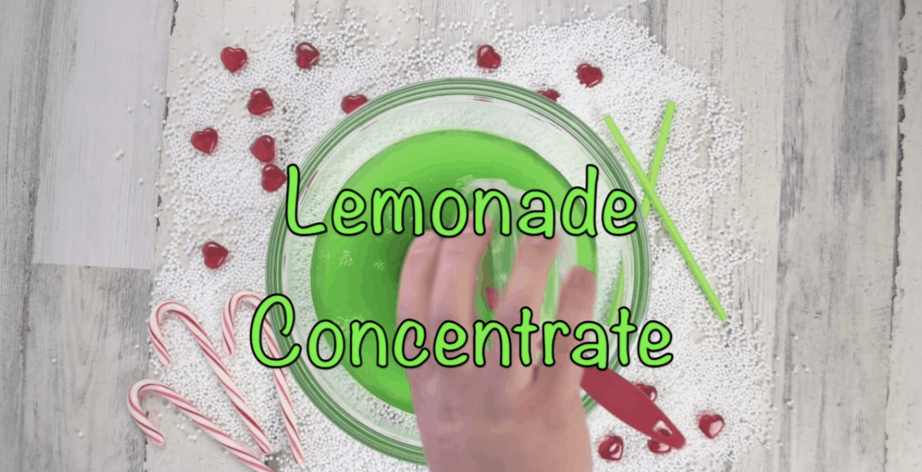 lemonade concentrate being added to grinch punch