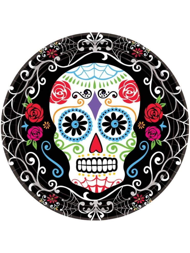 "Day of the Dead 10.5"" Dinner Plates"
