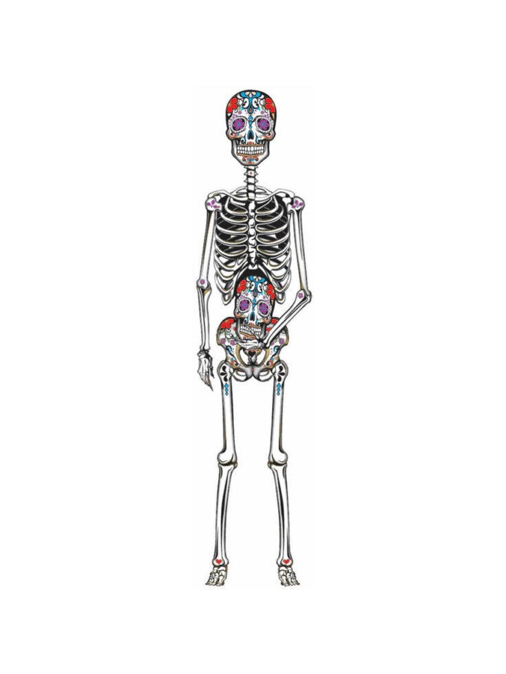 Day of the Dead Jointed Cut Out
