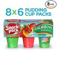 Green Snack Pack Flavored Pudding Cups