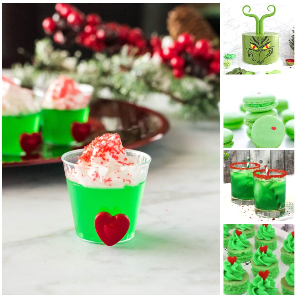 a collage of the best grinch food ideas
