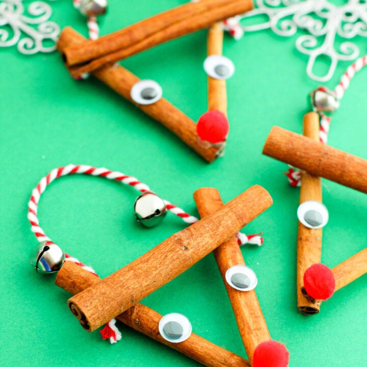 Cinnamon Stick Reindeer Ornaments