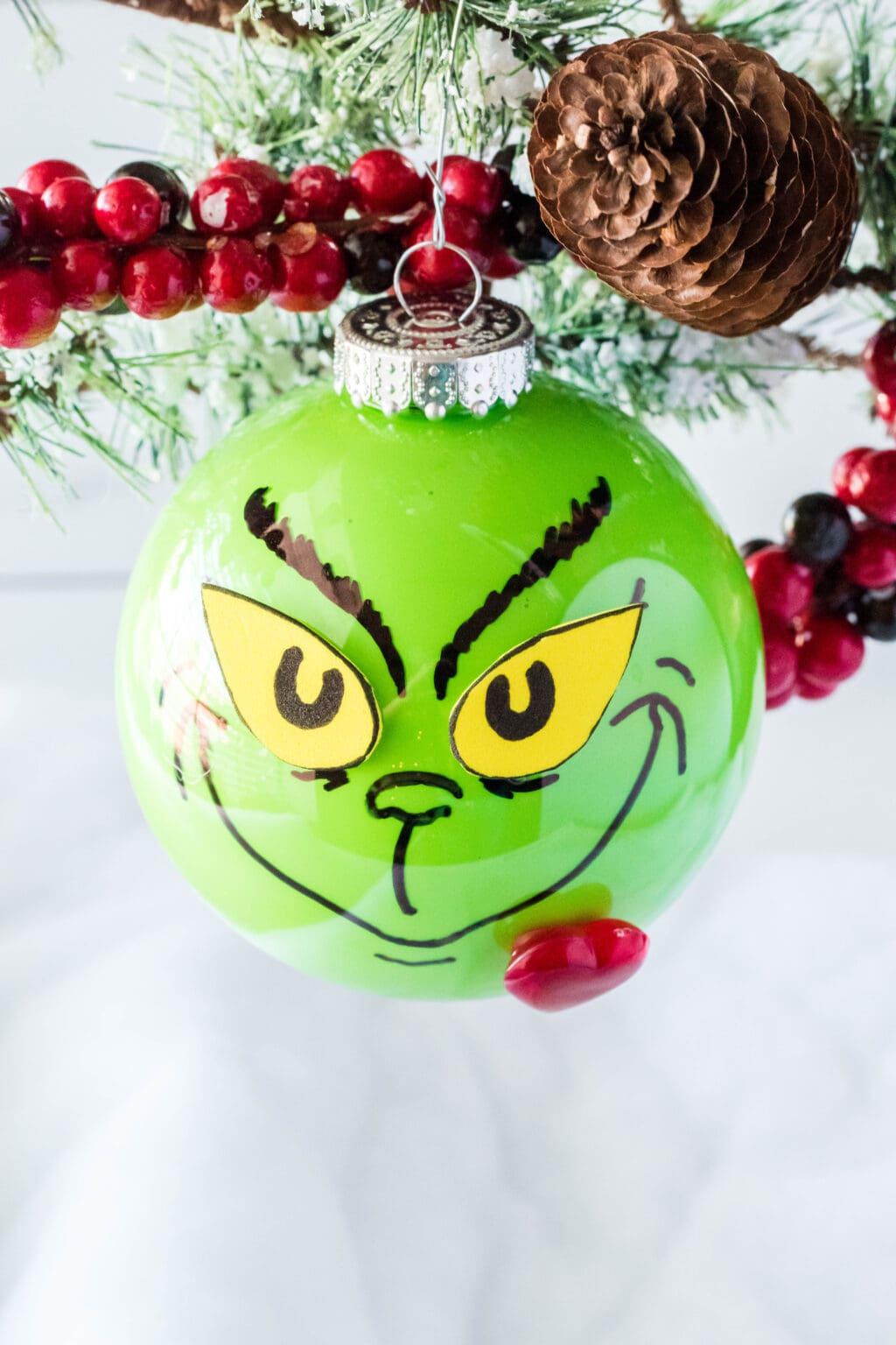 Diy Grinch Ornament Simplistically Living