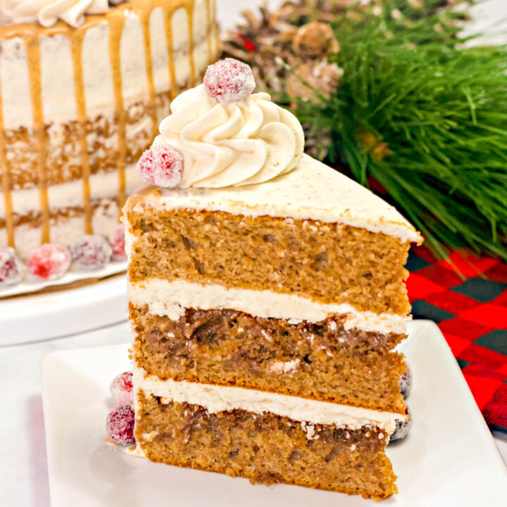 Holiday Spice Cake with Cinnamon Cream Cheese Frosting