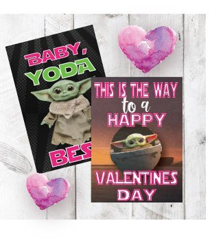 Baby Yoda Valentine Cards |