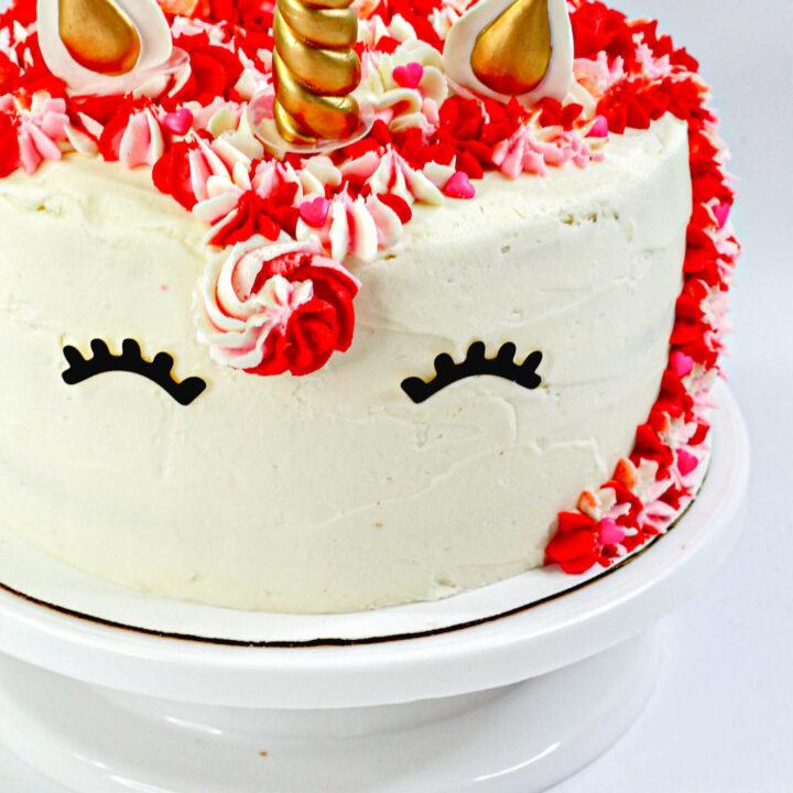 Valentine Unicorn Cake