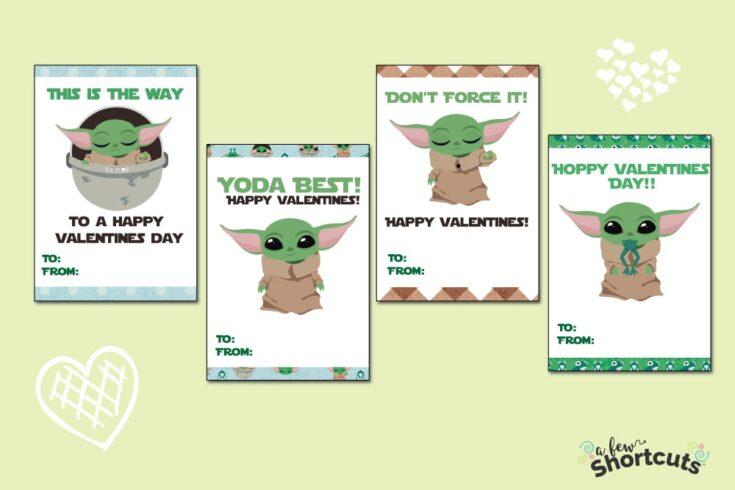 "Free Printable Baby Yoda Valentines Cards (AKA ""The Child"")"