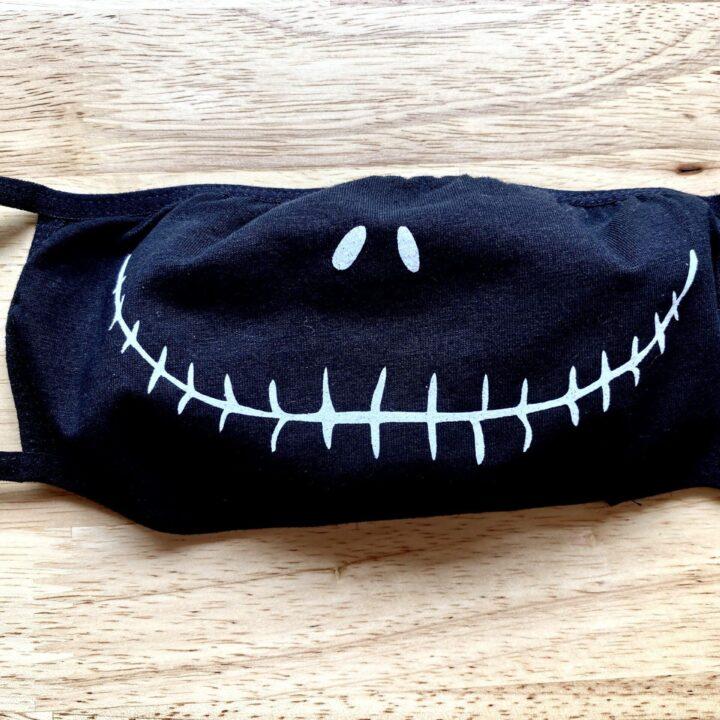 DIY Jack Skellington Face Mask