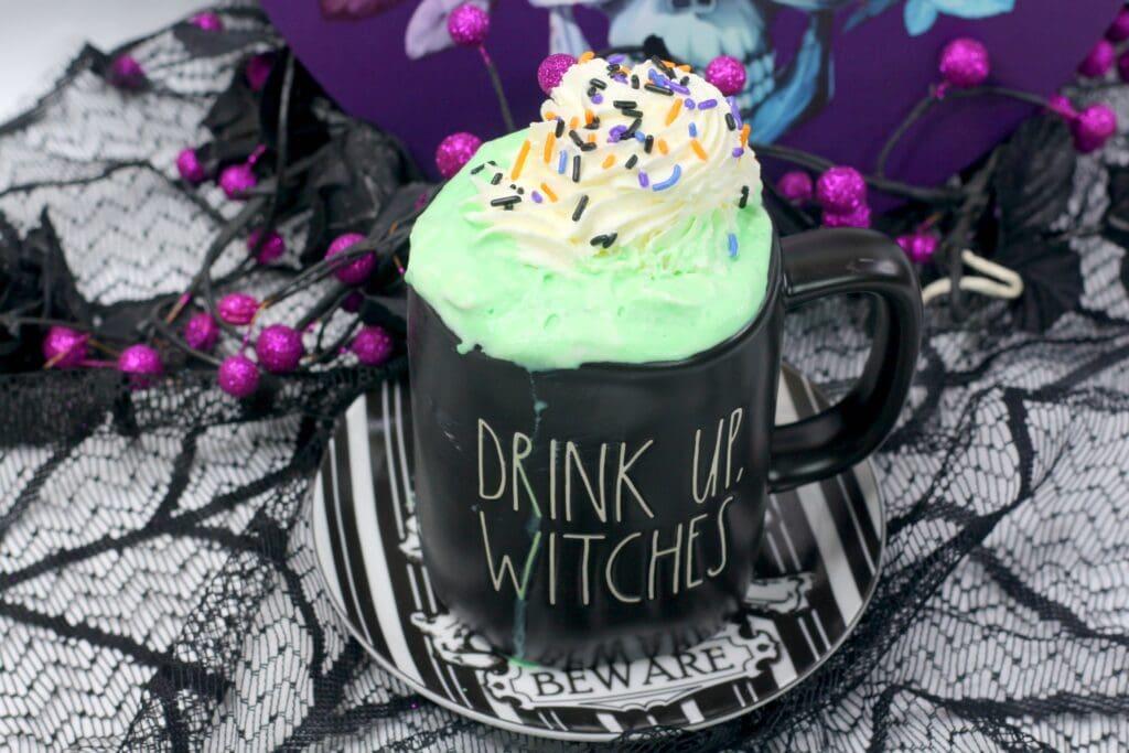 hocus pocus hot cocoa inside rae dunn mug