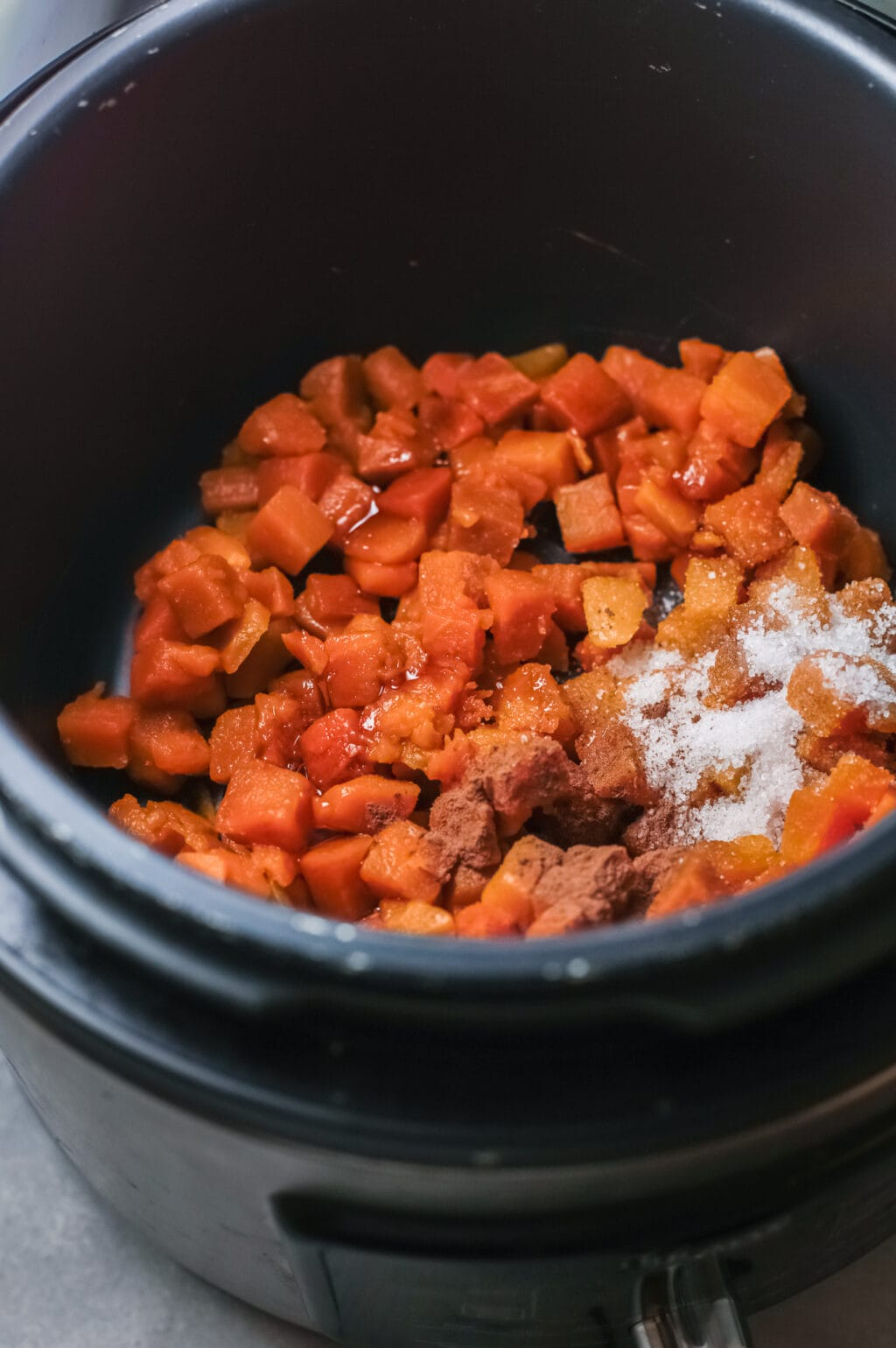 pumpkin and spices in Instant Pot