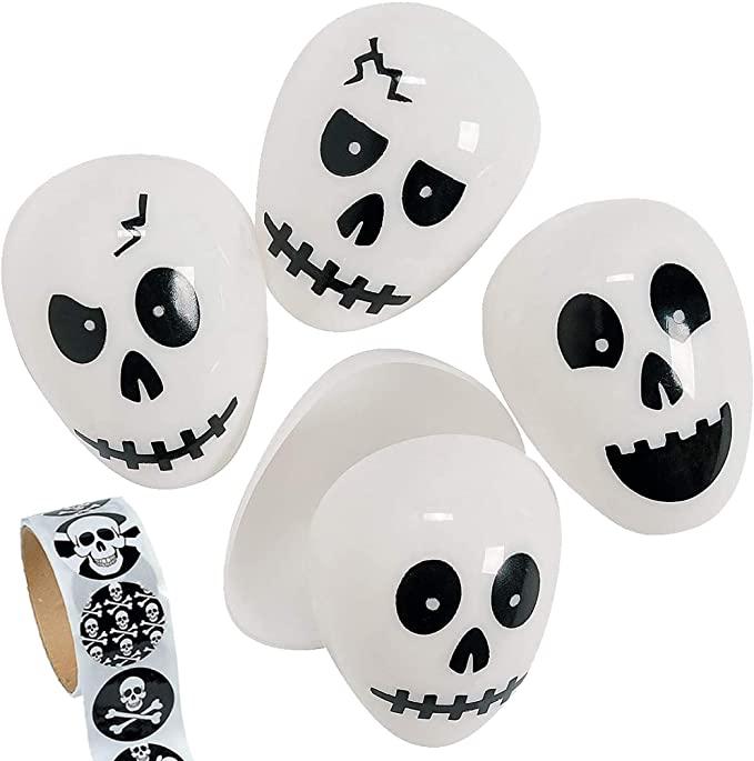 skull halloween eggs